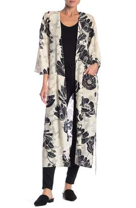 Dress Forum Floral Patterned 3/4 Sleeve Kimono