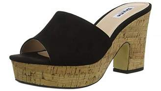 Dune Women's Indigow Open Toe Sandals, Black-Suede, 3 (36 EU)