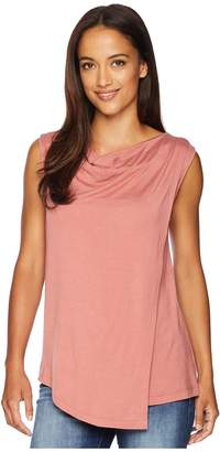 Bobeau B Collection by Nevaeh Cowl Layered Top Women's Sleeveless