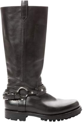 Polo Ralph Lauren Black Leather Boots