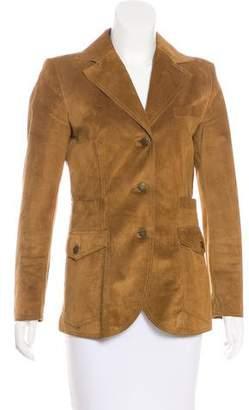 Dolce & Gabbana Suede Structured Blazer
