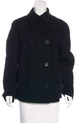 Akris Double-Breasted Wool Blend Coat