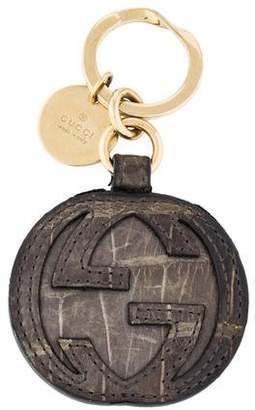 Gucci Alligator Logo Keychain