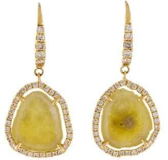 Rina Limor Fine Jewelry 18K Druzy & Diamond Drop Earrings