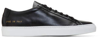 Common Projects Black Original Achilles Low Sneakers