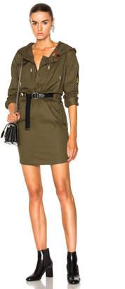 Saint Laurent Hooded Parka Mini Dress