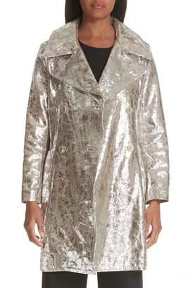 Simon Miller Double Breasted Metallic Lambskin Coat