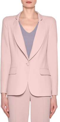 Giorgio Armani Wool Crepe One-Button Blazer, Pink