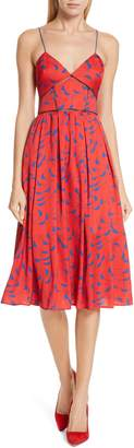 Self-Portrait Azalea Print A-Line Dress