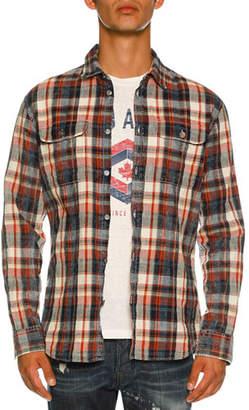 DSQUARED2 Bleached Check-Print Shirt