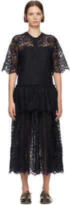 Sara Lanzi Navy Lace Dress