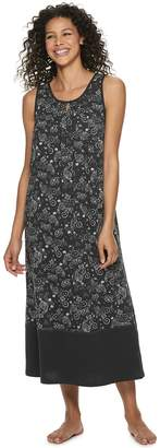 Croft & Barrow Petite Sleeveless Nightgown