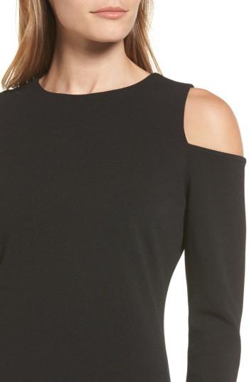 Women's Halogen Knit Cold Shoulder Dress 4