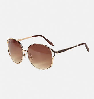 Avenue Gold Metal Epoxy Sunglasses