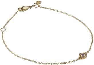 Sydney Evan Yellow Gold, Diamond and Sapphire Bezel Evil Eye Bracelet
