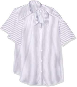 Trutex Girl's 2Pk E/C S/S Contemp Outstanding Pur/WHT Blouse,(Manufacturer Size:34)