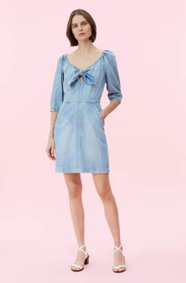 Rebecca Taylor La Vie Drapey Denim Dress