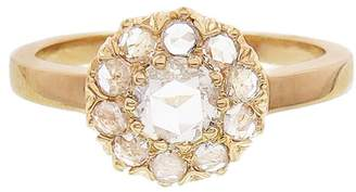 Couture Sethi Floral Round White Diamond Ring