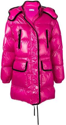 RED Valentino RED(V) maxi hooded puffer jacket