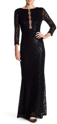 Marina Illusion Front Gown $249 thestylecure.com