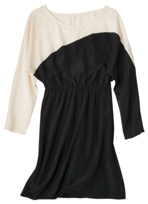Mossimo Womens Long Sleeve Colorblock Dress - Assorted Colors