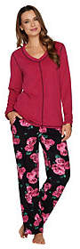 Stan Herman Petite Micro Fleece NoveltyPajama Set