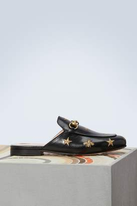 Gucci Princetown Bee mules