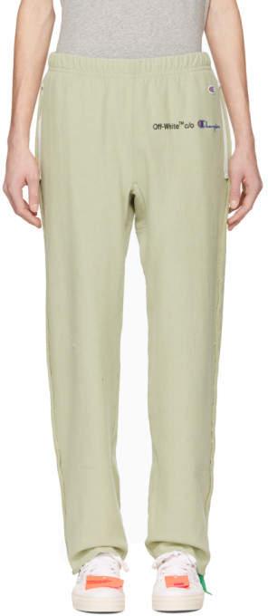 Off-White Green Champion Edition Sweatpants