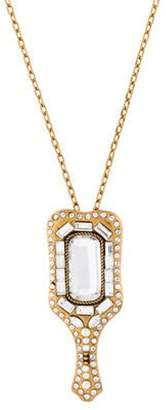 Marc Jacobs Mirror Pendant Necklace gold Mirror Pendant Necklace