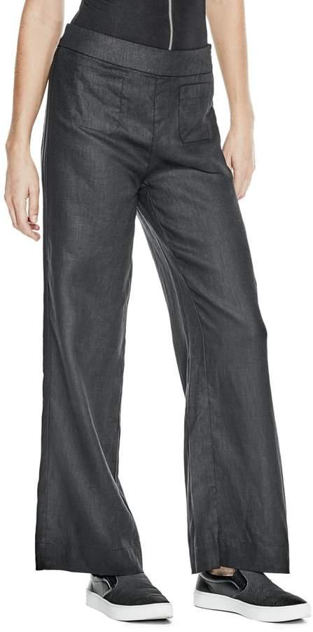 GUESS Trish Linen Wide-Leg Pants