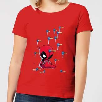 Marvel Deadpool Cartoon Knockout Women's T-Shirt