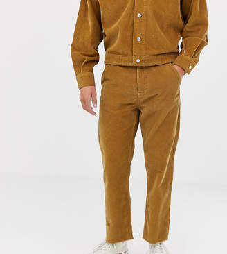 Noak straight leg cropped cord trousers in camel