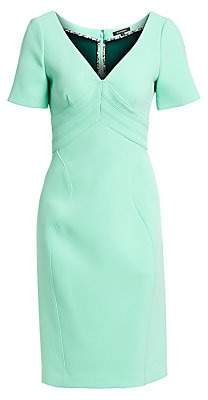 Zac Posen Women's Bonded Crepe V-Neck Cocktail Dress