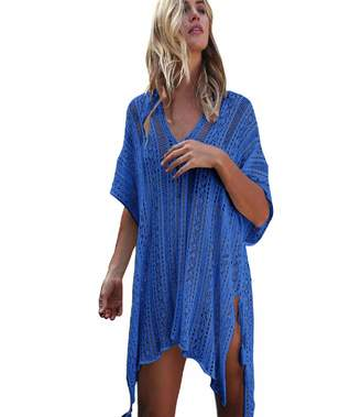 a9e98813a3 Putars Cover Up Putars Women Bathing Beach Cover Up Dress Bikini Swimsuit  Swimwear Crochet Smock