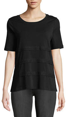Lord & Taylor Petite Relaxed Drapey Tee
