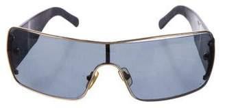 Versace Square Shield Sunglasses