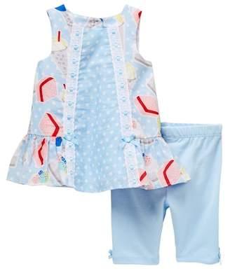 Pippa Pastourelle by and Julie Printed Top & Capri Leggings Set (Baby Girls)