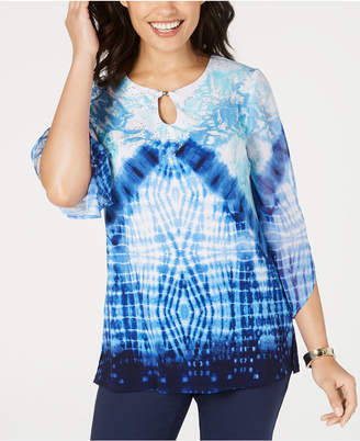 JM Collection Petite Tie-Dyed Tunic
