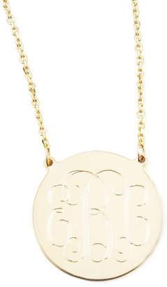 "Sarah Chloe Cara Monogrammed 14k Gold Necklace, 3/4"""