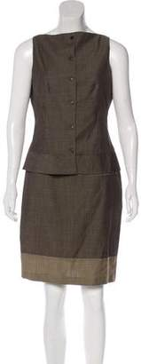 Narciso Rodriguez Virgin Wool Skirt Set