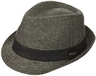 Van Heusen Men's Herringbone Fedora Suede Hat Band