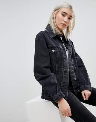 Asos (エイソス) - ASOS DESIGN denim girlfriend jacket in washed black