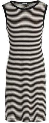 Splendid Cutout Striped Ribbed-knit Mini Dress