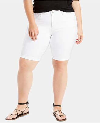 Levi's Plus Size Shaping Bermuda Jean Shorts