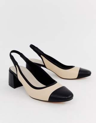 Asos Design DESIGN Sochi slingback mid heels