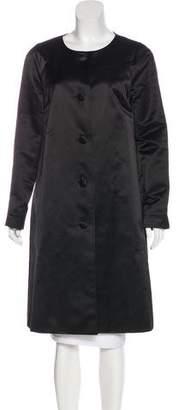 Tory Burch Button-Up Knee-Length Coat