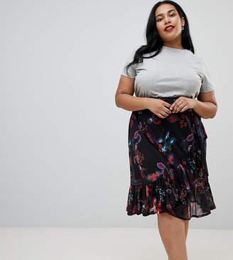 Junarose Floral Wrap skirt