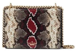 Kate Spade Reese Park - Marci Snake Embossed Leather Shoulder Bag