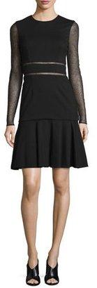 Jason Wu Long-Sleeve Lace-Inset Dress, Black $1,595 thestylecure.com
