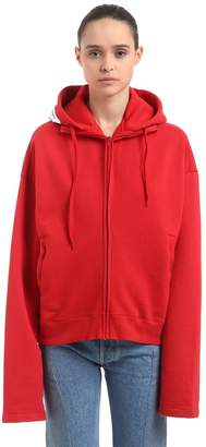 Vetements Hooded Cotton Blend Sweatshirt W/ Patch